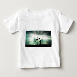 Cross Christ Faith God Jesus Clouds Sun Light Baby T-Shirt