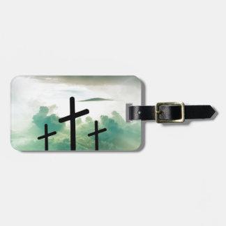 Cross Christ Faith God Jesus Clouds Sun Light Luggage Tag