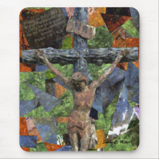 cross collage mouse pad