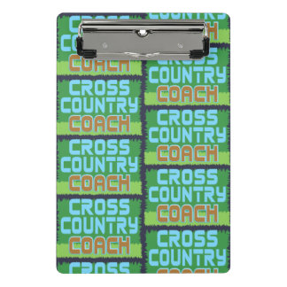 Cross Country Coach Pattern Mini Clipboard
