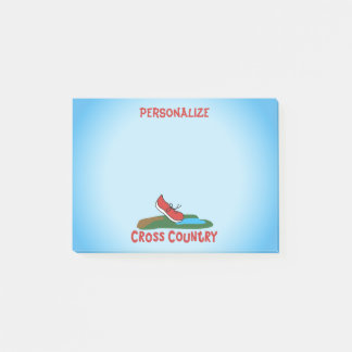 Cross Country Cute Running Shoe © Personalize Post-it Notes