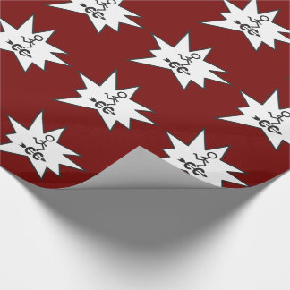 Cross Country Gift Wrap CC Symbol Running Themed
