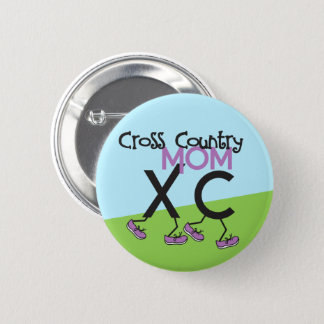 Cross Country Mom - Cross Country Runner Mom 6 Cm Round Badge