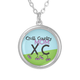 Cross Country Mom - Cross Country Runner Mom Silver Plated Necklace