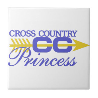 Cross Country Princess Small Square Tile