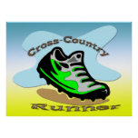 Cross-Country Runner 24x18 Poster