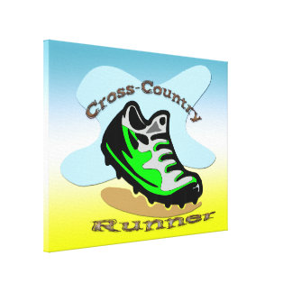 Cross-Country Runner 24x18 Wrapped Canvas Gallery Wrap Canvas