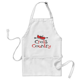 Cross Country Runner Adult Apron