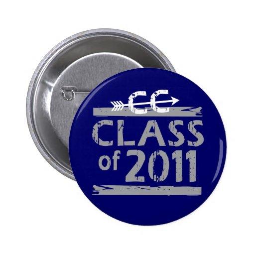 Cross Country Runner - Class of 2011 Pinback Buttons