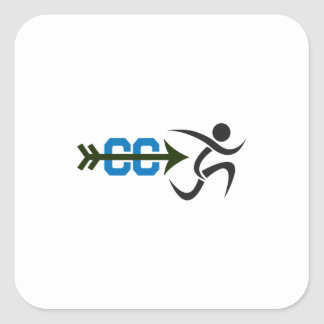 CROSS COUNTRY RUNNER SQUARE STICKERS