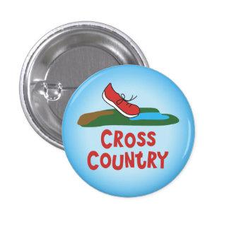 Cross Country Running © 3 Cm Round Badge