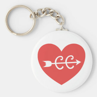 Cross Country Running and Arrow Symbol Key Ring