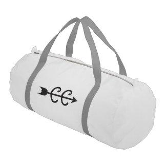 Cross Country Running Arrow Symbol Gym Bag