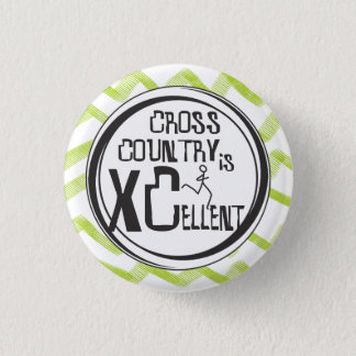 Cross Country Running is XCellent © 3 Cm Round Badge