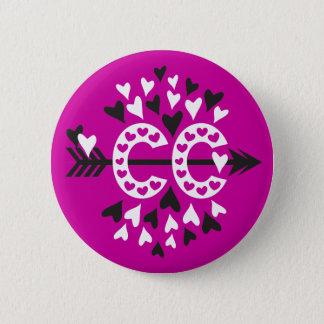 Cross Country Running Love 6 Cm Round Badge