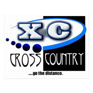 CROSS COUNTRY RUNNING MOTTO - GO THE DISTANCE XC POSTCARD