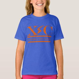 Cross Country Running Orange Design Shirt