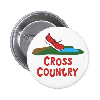 Cross Country Running Pinback Buttons