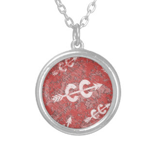 Cross Country Running Round Pendant Necklace