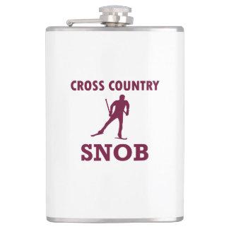 Cross Country Ski Snob Hip Flask