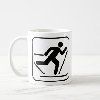 Cross Country Ski Symbol Mug