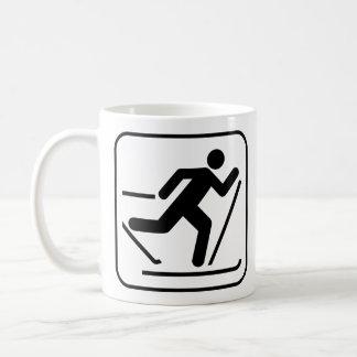 Cross Country Ski Symbol Mug