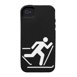 Cross Country Ski Symbol Vibe iPhone 4 Cases
