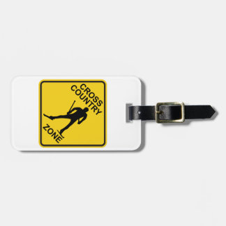 Cross Country Ski Zone Luggage Tag