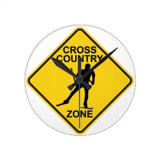 Cross Country Ski Zone Round Clock