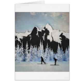 Cross Country Skiing Card