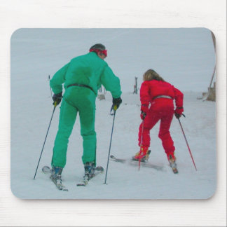 Cross country skiing mouse pad