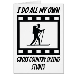 Cross Country Skiing Stunts Card