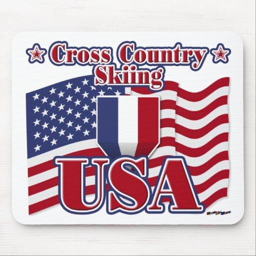 Cross Country Skiing USA Mousepads