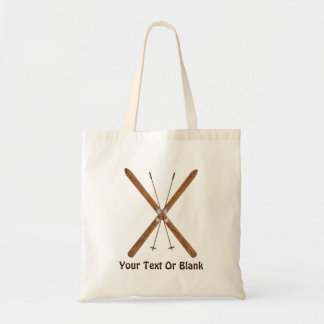Cross-Country Skis And Poles Budget Tote Bag