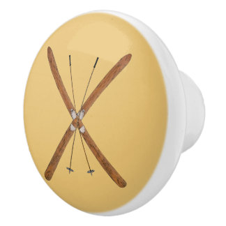 Cross-Country Skis And Poles Ceramic Knob