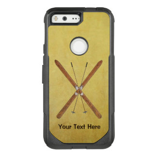 Cross-Country Skis And Poles OtterBox Commuter Google Pixel Case