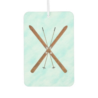 Cross-Country Skis On Snow Car Air Freshener
