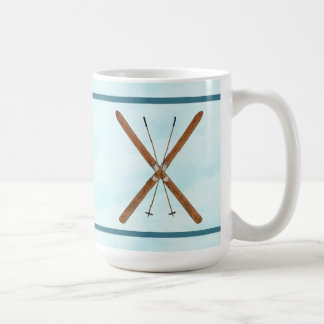 Cross-Country Skis On Snow Coffee Mug