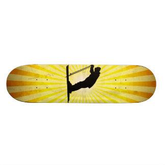 Cross Country Snow Ski; yellow Custom Skate Board