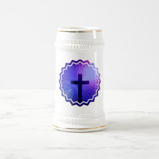 Cross Design  Beer Stein Mug