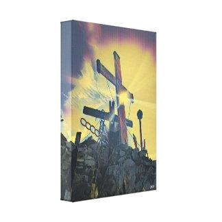 Cross design canvas print