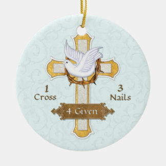 Cross Dove 4 Given Christmas Ornament