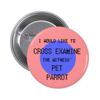 Cross Examine the Pet Parrot - Phoenix Wright 6 Cm Round Badge