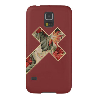 Cross Floral Galaxy S5 Cover
