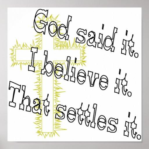 Cross God Said Print