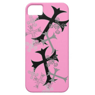 Cross Graphic Pink iPhone Cases iPhone 5 Covers