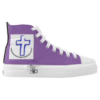 CROSS HIGH TOPS SHOES FOR MEN AND WOMEN PRINTED SHOES