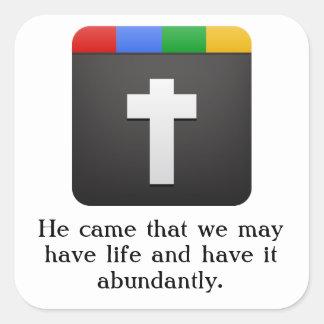 cross icon sticker