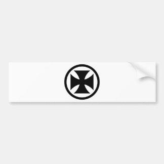 Cross in Circle monochrome Bumper Sticker