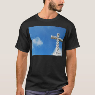 Cross in clouds and blue sky T-Shirt